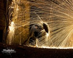 Wire, wool, fire, long exposure photography, fun photography