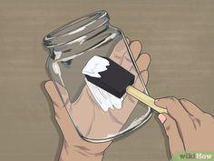 How to Decoupage Jars: 14 Steps (with Pictures) - wikiHow Decoupage Jars, Decoupage Wood, Decoupage Tutorial, Decoupage Vintage, Decoupage Ideas, Jam Jar Crafts, Vase Crafts, Craft Stick Crafts, Burlap Crafts