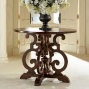 Round Foyer Tables an antique pedestal table in the foyer sets the home's casual tone