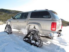 Rubber track conversion system ACF for VW Amarok