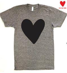 Big Huge Heart American Apparel Track Tee Womens & by WearMeGear