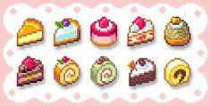 cakes! 8 bit hama perler