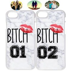 Lips Bitch 01 & 02 Marble Best Friend Phone Case Cover For iPhone X XR 6 7 8 - Bestfriend Phone Cases - Ideas of Bestfriend Phone Cases - Lips Bitch 01 & 02 Marble Best Friend Phone Case Cover For iPhone X XR 6 7 8 Price : Bff Iphone Cases, Bff Cases, Art Phone Cases, Best Friend Cases, Friends Phone Case, Fluffy Phone Cases, Matching Phone Cases, Galaxies, Phone Accessories