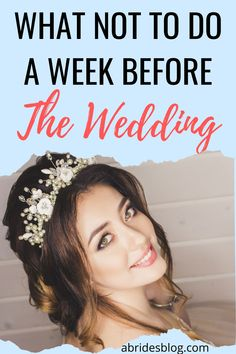 Wondering what you may do wrong in your bridal beauty routine? here are a few things a bride should NOT do the week before her wedding. Beauty Routine Before Wedding, Beauty Routine Schedule, Beauty Routines, Skincare Routine, Bridal Beauty, Wedding Beauty, Wedding Week, Beauty Regimen, Daily Beauty