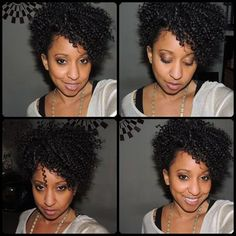 this style is crochet braids cut into a short do.