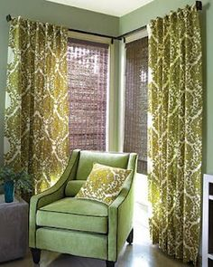 Solution to window treatments for cornered windows. yay!