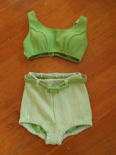 1950's High Waist Swimsuit.  Nice for a quiet get away weekend.