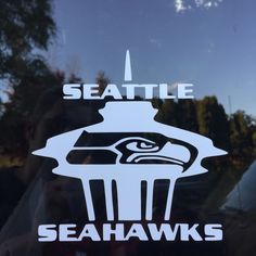 Seattle Seahawks Space Needle Vinyl Decal Sticker by RealLifeSims Seahawks Gear, Seahawks Fans, Seahawks Football, Seattle Seahawks, Seattle Football, Nfc West, Football Conference, 12th Man, Seattle Washington