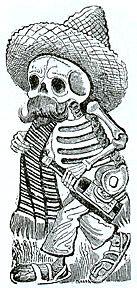 esqueleto mejicano