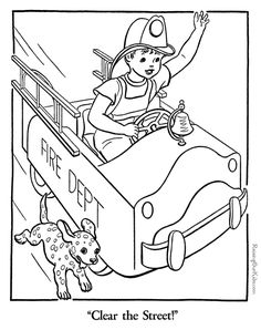 firefighter coloring page | firefighter, worksheets and fire safety - Firefighter Badges Coloring Pages