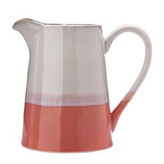 Discover the Pols Potten Panorama Pitcher - Pink at Amara Carafe, Rose Beige, Glaze Paint, Kartell, Glass Birds, Hand Painted Ceramics, Glazed Ceramic, Ceramic Painting, Paint Designs