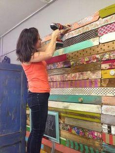 pared de palet vintage