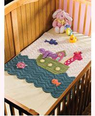 Noah's Ark Baby Blanket- annies