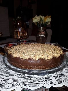 Greek Desserts, Party Desserts, Greek Recipes, Vegetarian Recipes, Cooking Recipes, Sweets Cake, Candy Recipes, Food Processor Recipes, Food And Drink