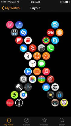 apple watch how to app layout custom