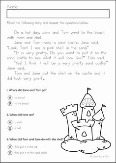 math worksheet : free reading comprehension passages  summer review  classroom  : Kindergarten Reading Comprehension Worksheets Free