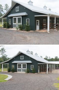 pole barn homes 27 Barndominium Floor Plans Ideas to Suit Your Budget Gallery Sepedaku Metal Barn Homes, Pole Barn Homes, Metal Building Homes, Building Design, Building A House, Pole Barns, Pole Barn Garage, Metal Homes Plans, Garage House