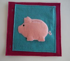 Piggy Bank Custom Quiet Book Page  Build a by BusyBookBuilders