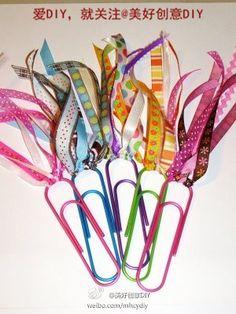 Super cool ribbon paper clips