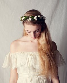 Leafy woodland crown Natural boho bridal hair wreath by whichgoose, $68.00  What about this?