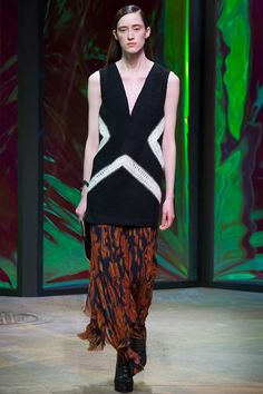 Thakoon Fall 2015 RTW | Lots of these fluttery soft skirts on the runways paired with strong tops - nice for early fall | #FindYourCool | Art . Style . Life
