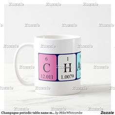 Cate periodic table name mug november 2016 sales form my zazzle champagne periodic table name mug urtaz Image collections
