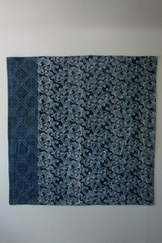 Antique Indigo Cloth. Japan.  Arrow - Arrow.