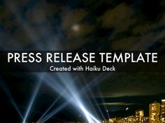 Press Release Template: Add visual interest to your announcements with this simple press release template.