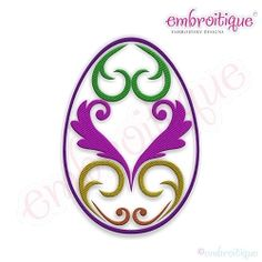 Fancy Easter Egg 23 - 7 Sizes! | What's New | Machine Embroidery Designs | SWAKembroidery.com Embroitique