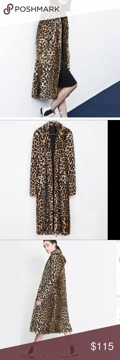 GORGEOUS FAUX LEOPARD 🎉🎉REDUCED Beautiful, Sufi and full, this coat is stunning .Faux fur in leopard, looks so similar to the one in Zara for $. 298!!⭐️⭐️⭐️⭐️⭐️5 star rated!!! NO NEGOTIATIONS Jackets & Coats