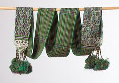 Guatemalan hair band with tassels / boho chic by PaulaArteTextil