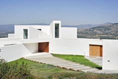 eingang treppen el viento modernes haus auf marmorstein grundlage