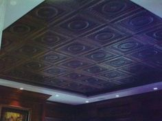 Stamped tin ceiling finished by Donzine Street House, Kitchen White, Old Doors, White Walls, Tin, Kitchen Decor, Cabinets, House Plans, New Homes