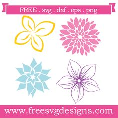 Great for Cricut Design Space, Silhouette Cameo, Clipart, Scrapbooking and other crafting projects. Cricut Vinyl, Svg Files For Cricut, Silhouette Cameo Free, Silhouette Studio, Dahlia, Flower Svg, Free Monogram, Free Svg Cut Files, Svg Cuts