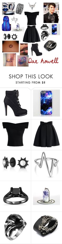 """Dan howell themed outfit"" by jadesalas on Polyvore featuring Nine West, Chicwish, Bling Jewelry, Made Jewellery and Leatherock"