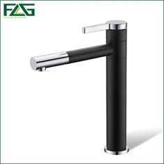 46.99$  Buy here - http://aliu3o.worldwells.pw/go.php?t=32770951297 - Basin Faucet 360 Degree Swivel Black Painting Chrome,Platform Heightening Cold Hot Deck Mounted Vanity Sink Bathroom Tap Mixer 46.99$