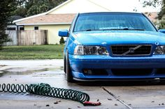 Blue modified Volvo S70