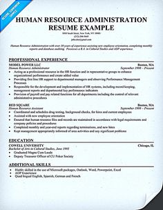 resume for human resources position