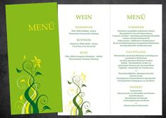 Menükarten zur Hochzeit: Lebe Deinen Traum   Etsy Din Lang, Menu, Herbs, Etsy, Products, Pictures, Card Templates, Red Wine, Invitation Cards