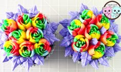 MakerHeart - Project - Rainbow Rose Cupcakes