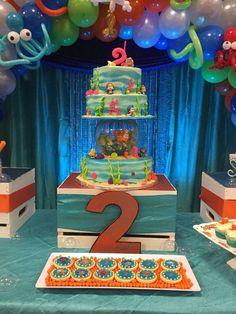 Bubble Guppies Cake, Bubble Guppies Birthday, Bubble Birthday Parties, 3rd Birthday, Birthday Ideas, Ocean Cakes, Under The Sea Party, Gun Storage, Storage Ideas