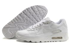Find Nike Air Max 90 White White Mens Running Shoes online or in Nikelebron. Shop Top Brands and the latest styles Nike Air Max 90 White White Mens Running Shoes at Nikelebron. Nike Air Max 87, Nike Air Max Blanche, Nike Air Max White, Cheap Nike Air Max, New Nike Air, Air Max 90 Cuir, Air Max 90 Leather, Running Shoes On Sale, Running Shoes For Men