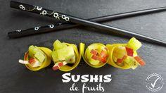 Sushisfait avec des fruits Collation santé