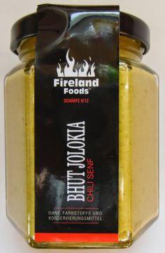 Chilihead Icewolf77: Fireland Foods - Bhut Jolokia Chili Senf