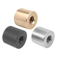Ecrou trapézoïdal, cylindrique pas simple, filetage à droite ou à gauche // Trapezoidal thread nuts, round single-start, RH or LH thread // REF 24003