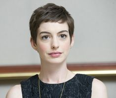 Anne Hathaway pixie. Chestnut or platinum color? Can't decide....
