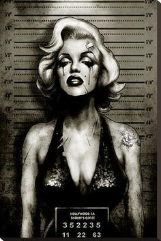 Marilyn Monroe Mugshot, Green/Black Art Print by Marcus Jones Stretched Canvas Prints, Canvas Art Prints, Framed Art Prints, Fine Art Prints, Poster Prints, Marilyn Monroe Artwork, Tupac Wallpaper, Gangsta Tattoos, Girl Tattoos