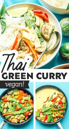 Flavor up your next meal with this Thai Green Curry recipe, the ultimate vegan dish (+ our tips for leveling up store bought curry paste!) Make it for a healthy family dinner that's better than takeout! #thaifood #curry #vegan #vegetarian Best Vegetarian Recipes, Asian Recipes, Vegan Vegetarian, Healthy Recipes, Ethnic Recipes, Healthy Food, Thai Green Curry Recipes, Healthy Family Dinners, Curry Paste