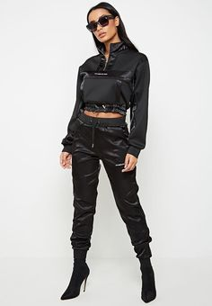 Maniere De Voir's latest collection of on-trend women's clothing, from cargo to corsets and bodysuits to jumpsuits. A masterclass in modern fashion and style. Cute Comfy Outfits, Edgy Outfits, Dance Outfits, Fashion Outfits, Womens Fashion, Women's Sports Swimwear, Sport Outfit, Loungewear Set, Moda Fitness