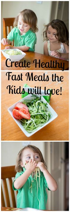 5 Tips to Create Healthy Fast Meals the Kids will Love! http://blog.myspiralslicer.com